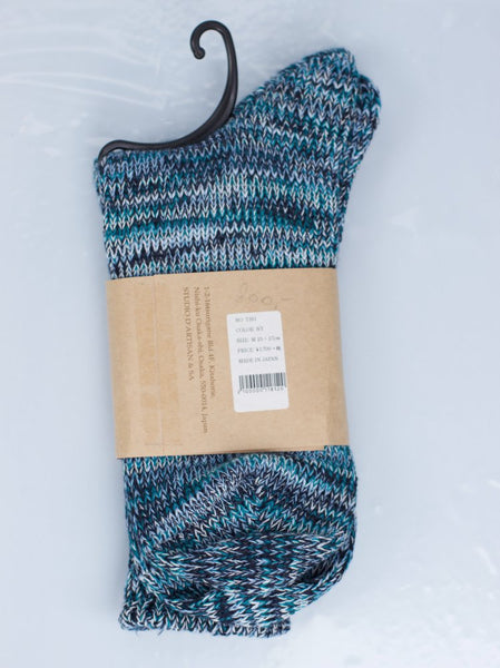 Studio d'Artisan 7391 Long Knit Socks Navy