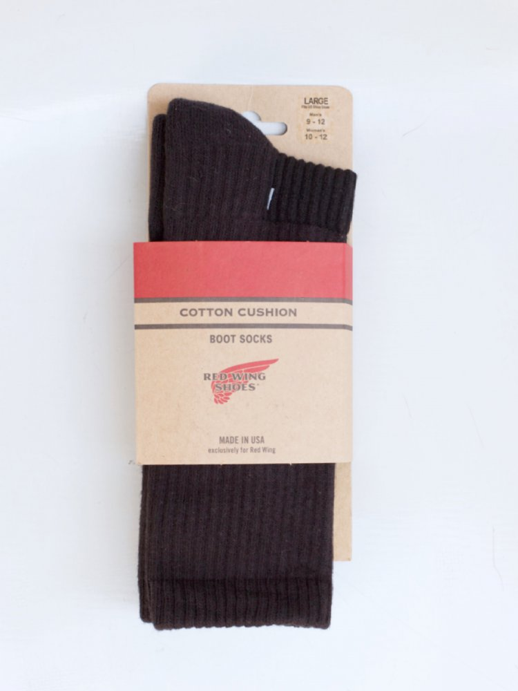 Red Wing Cotton Cushion Socks Black