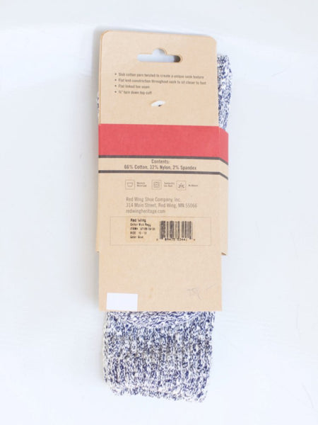 Red Wing Cotton Ragg Socks Blue