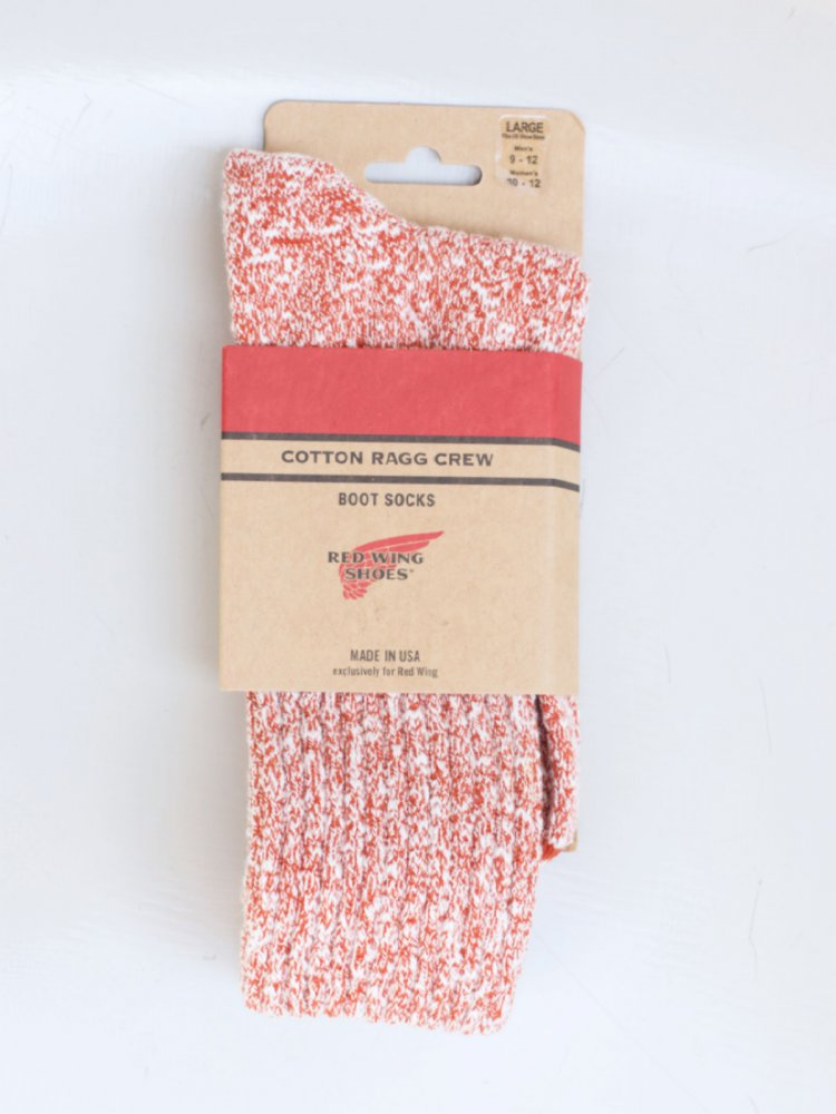 Red Wing Cotton Ragg Socks Rust