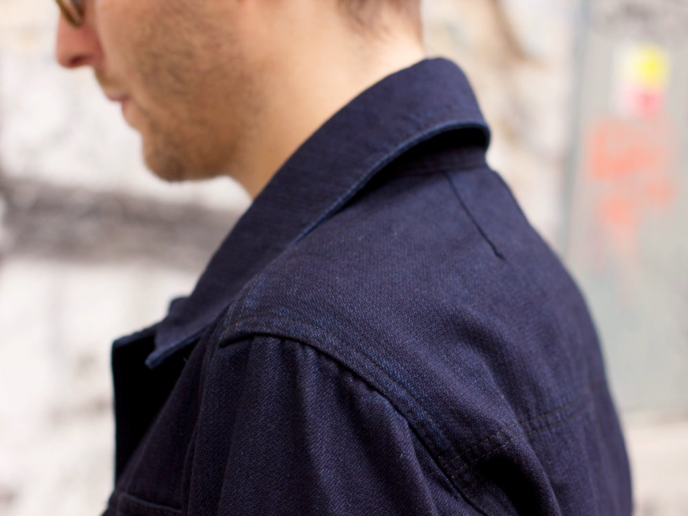 Hansen Garments Leo Jacket Black Indigo