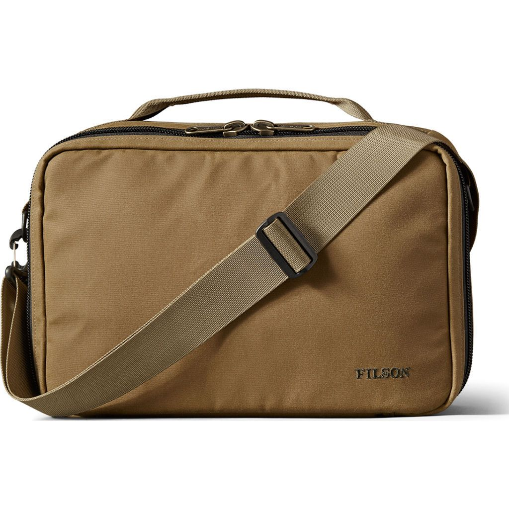 Filson Padded Compartment Case Dark Tan