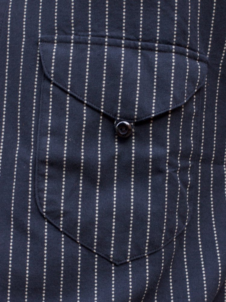 Indigofera Fogerty Shirt Wabash Stripe Black