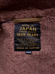 Iron Heart Khaki Alpaca Lined Whipcord Modified N1 Deck Vest
