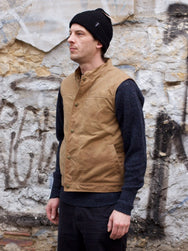 Ginew Wax Vest Brown