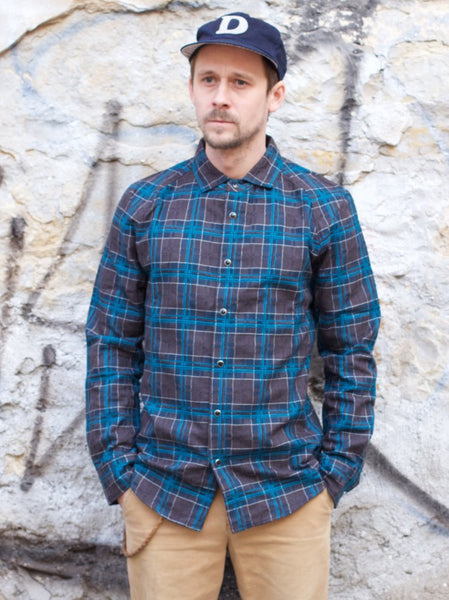 Nine Lives Short-Circuit Check Shirt Blue/Grey