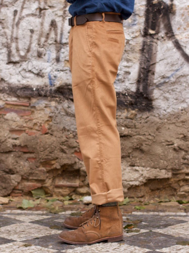 Eat Dust R Combat Pants Feincord Cognac