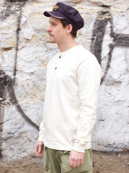 Eat Dust Henley Heavy Slub Offwhite
