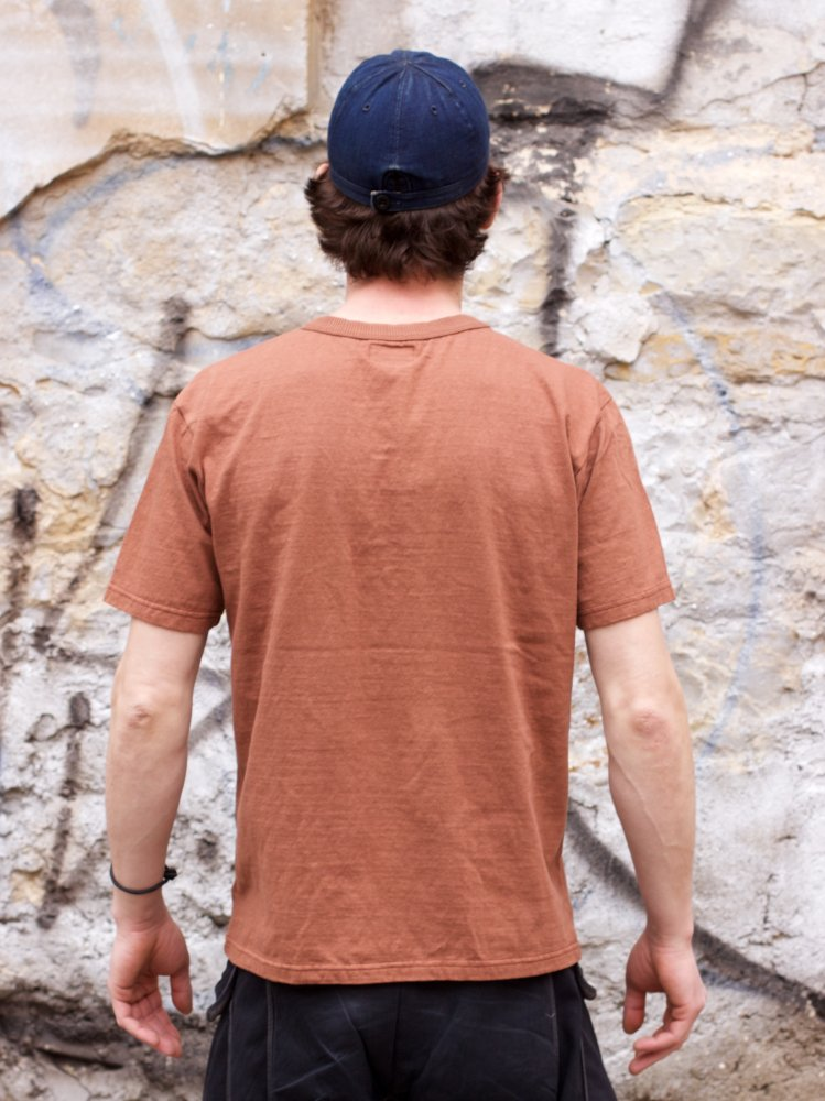 National Athletic Goods Rib Pocket Tee, Crimson Fade