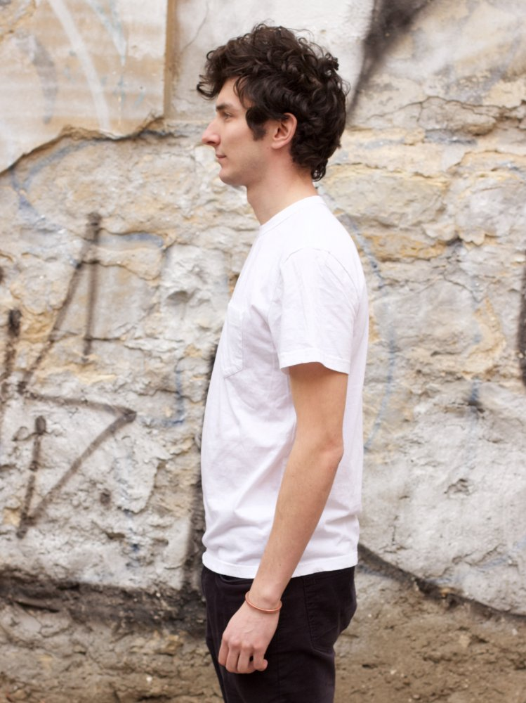 Homespun Knitwear Dad's Pocket Tee White