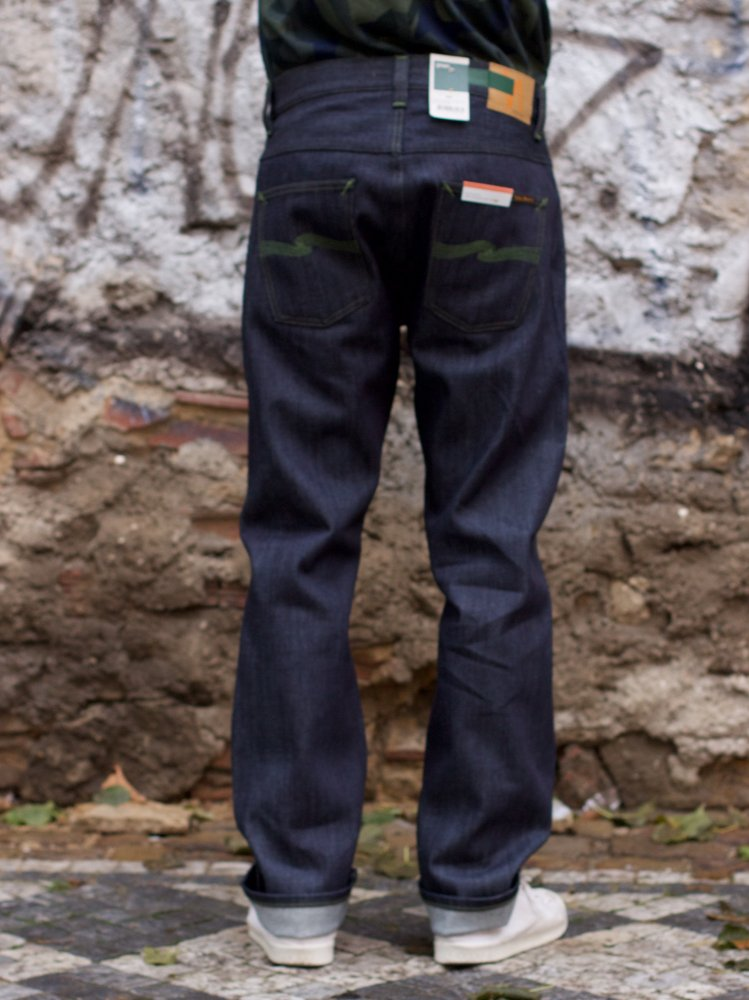 Nudie Jeans Sleepy Sixteen Dry Green Selvage