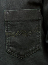 Nudie Jeans Ronny Army Coated Indigo