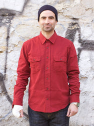 Indigofera Alamo shirt Guajillo Red