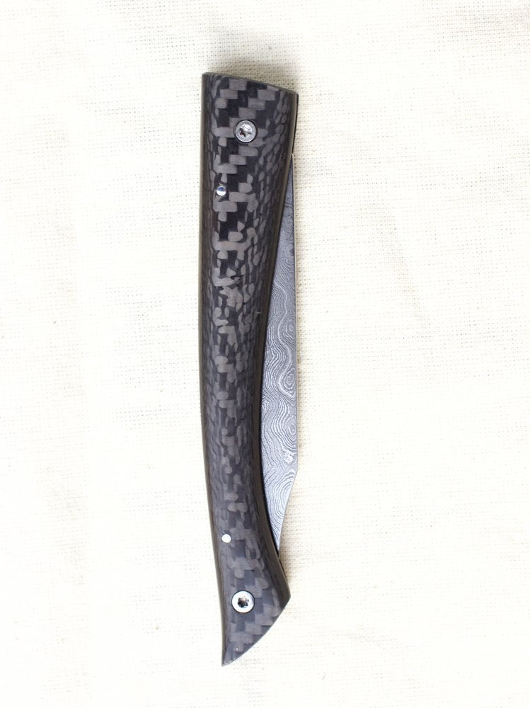 Anton Vadovič Folding Knife Damascus Composite