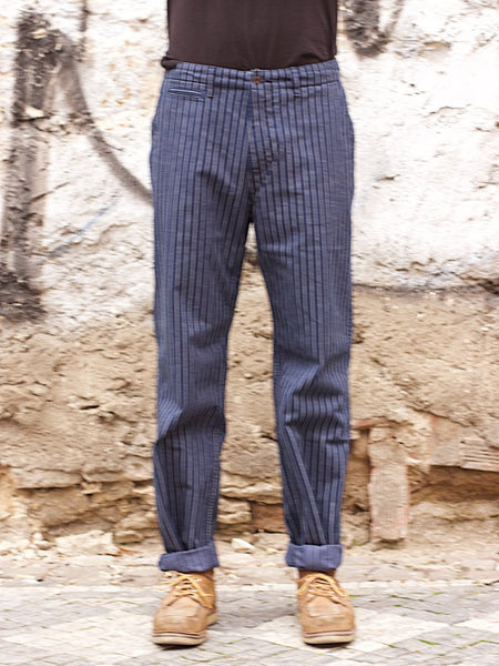 Japan Blue JB7056 Brooklyn Trousers Navy Stripe