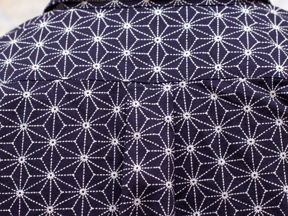 Japan Blue J3529J01 Asanoha Sashiko Shirt Navy