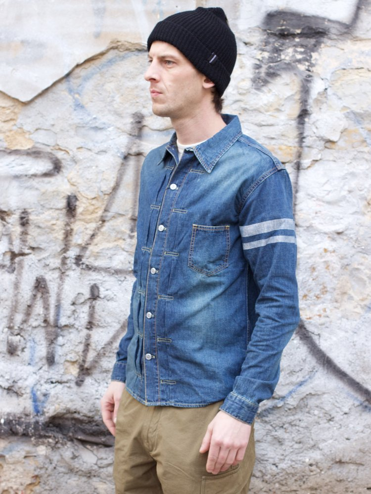 Momotaro 05-197 Type I 8oz Shirt washed