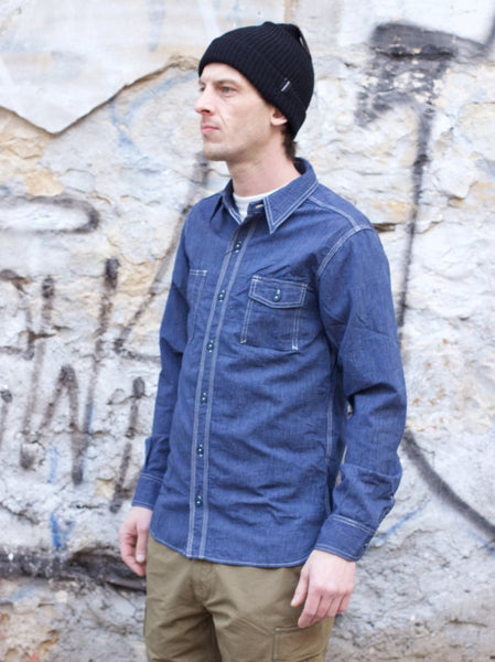 Momotaro 05-186 Chambray Stripe Shirt