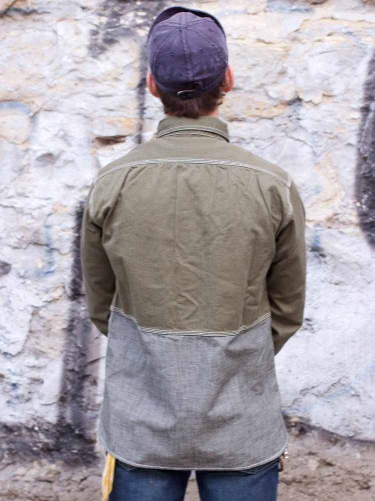 Momotaro 05-195 Crazy Pattern Jail Pocket Shirt