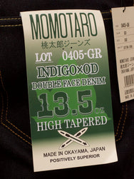 Momotaro 0405-GR Tapered 13,5oz Olive Weft