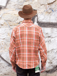 Indigofera Bryson Shirt Bleached Orange/Brown