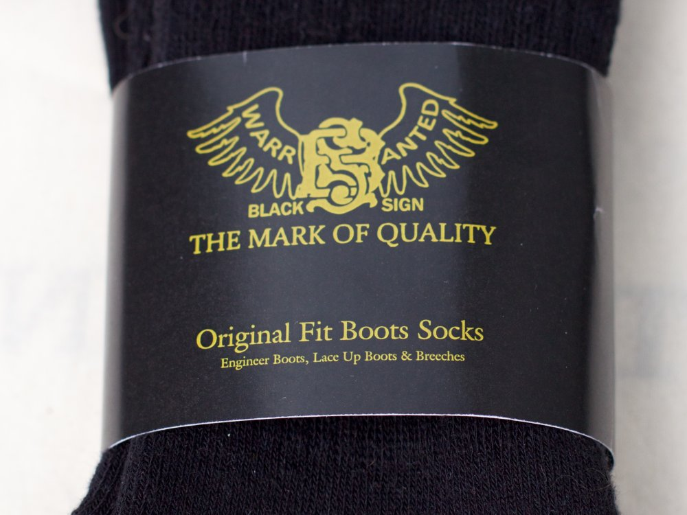 Black Sign Boot Socks Midnight Black