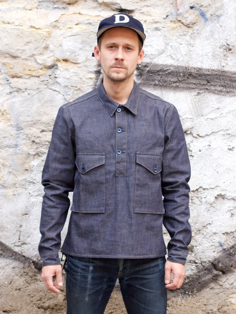 Indigofera Terrence Shirt Military Chambray