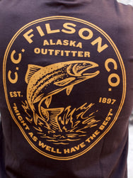 Filson Outfitter Graphics Tee Faded Black