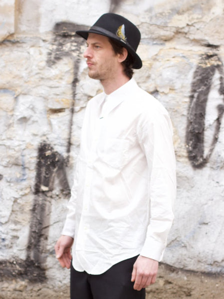 Black Sign Broadway Dress Shirt Salt White