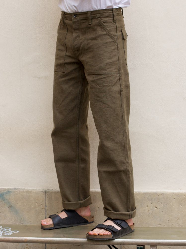 Samurai Jeans SJ52BP Olive Fatique Pants