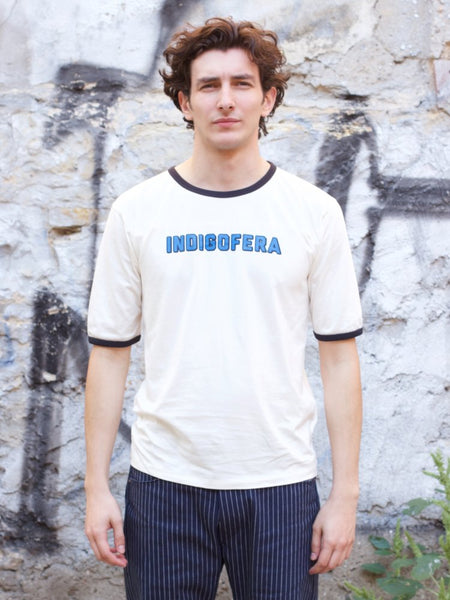 Indigofera Kernion Tee Repair White