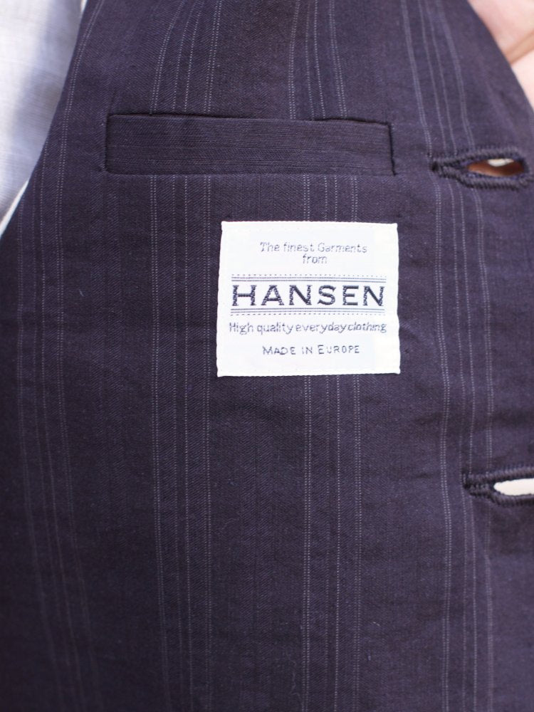 Hansen Garments Daniel Vest, Black Stripe