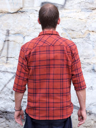 Indigofera Delray Flannel Check Red Overdye