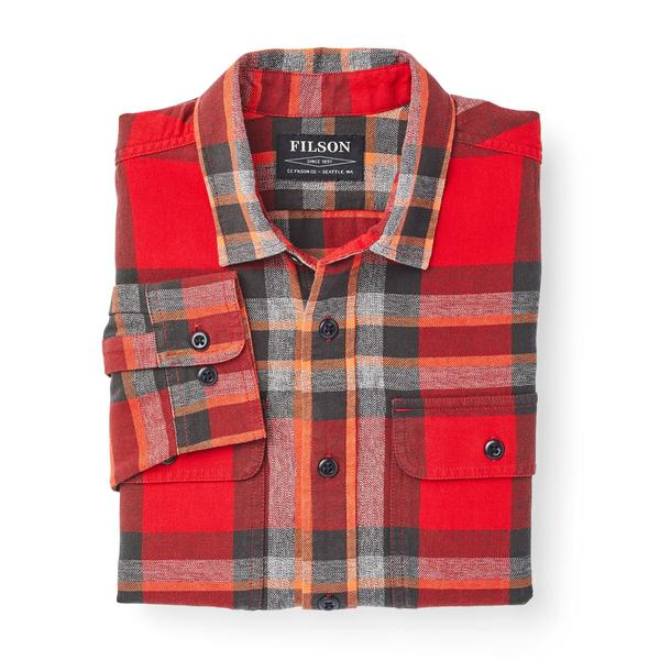 Filson Scout Shirt Red/Black/Flame Plaid