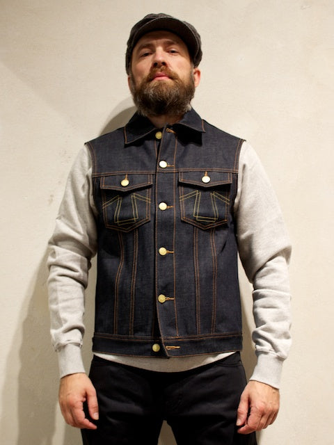 Eat Dust Clothing Vest 736 Raw Denim