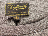 National Athletic Goods Long Sleeve Gym Tee Charcoal