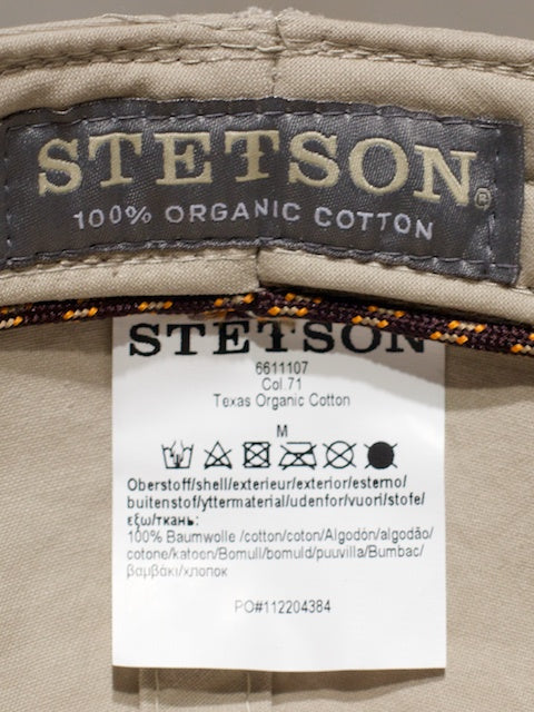 Stetson Texas Organic Cotton Natural