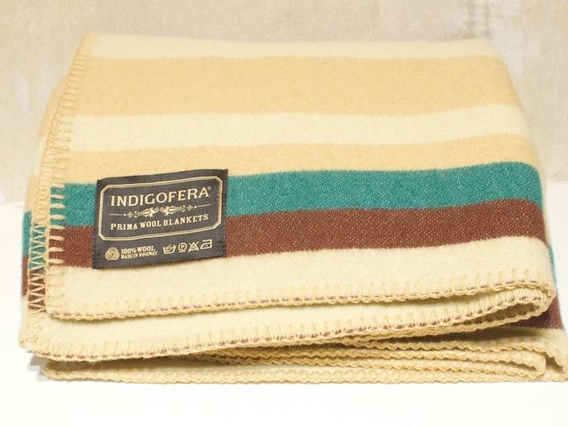 Indigofera Scioto blanket Beige/Brown/Green/Red