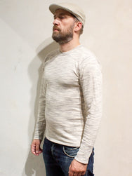 Homespun Knitwear Camp Tee Long Sleeve Grey