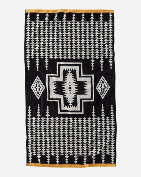 Pendleton Harding Jacquard Spa Towel Black
