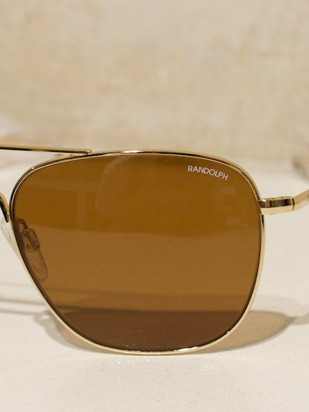 Aviator Gold 23K, Bayonet, Tan Polarised