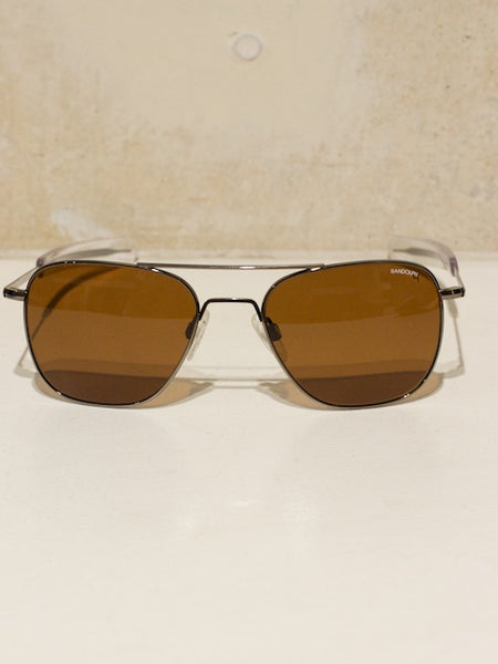 Aviator Gun Metal, Bayonet, Tan Polarized