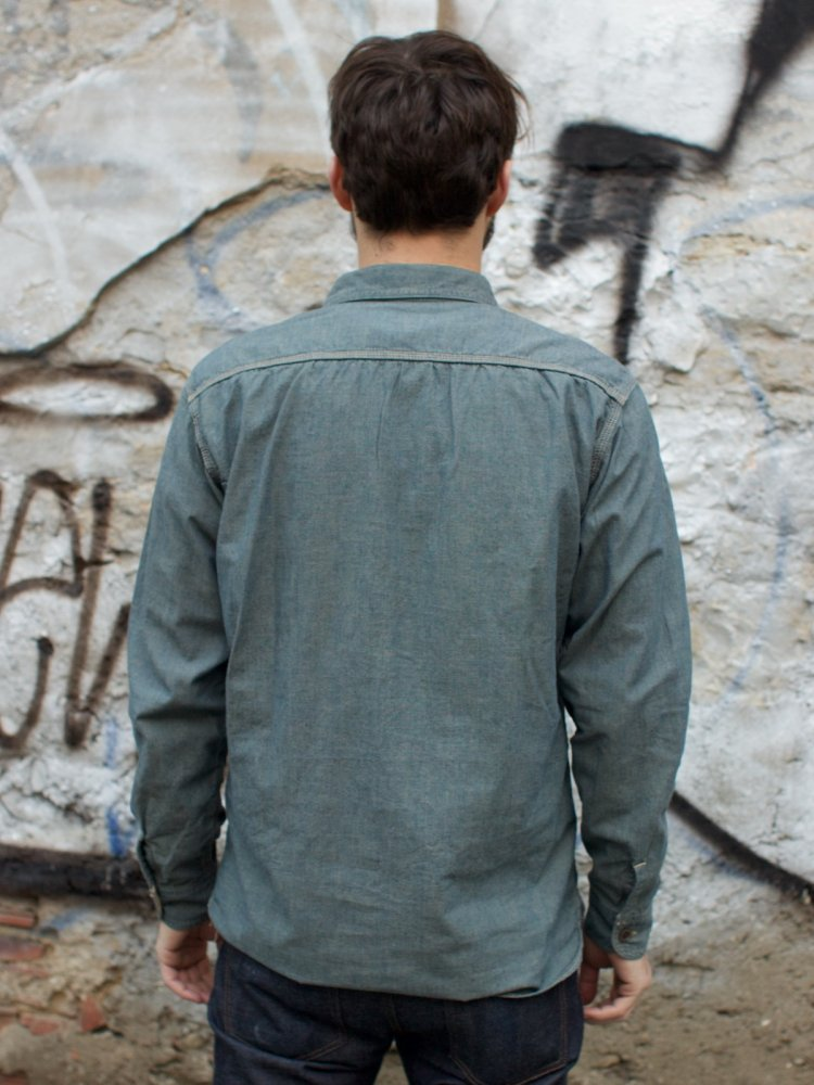 Momotaro MS033T - Green Tea Dyed Shirt