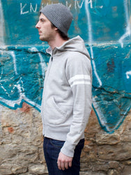 Momotaro ST131 Sweat Zip Up Hoodie Grey