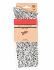 Red Wing Cotton Ragg Socks Black