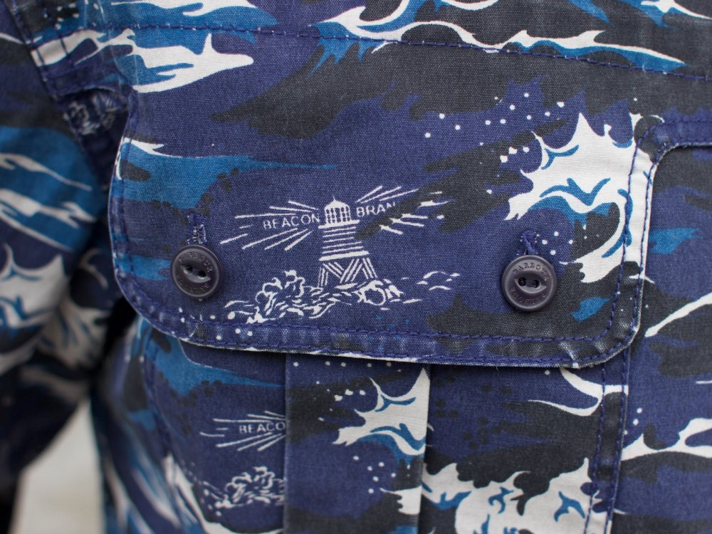 Barbour x White Mountaineering Wave Shirt Blue