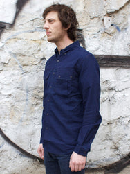 Barbour x White Mountaineering Indigo Peak Shirt