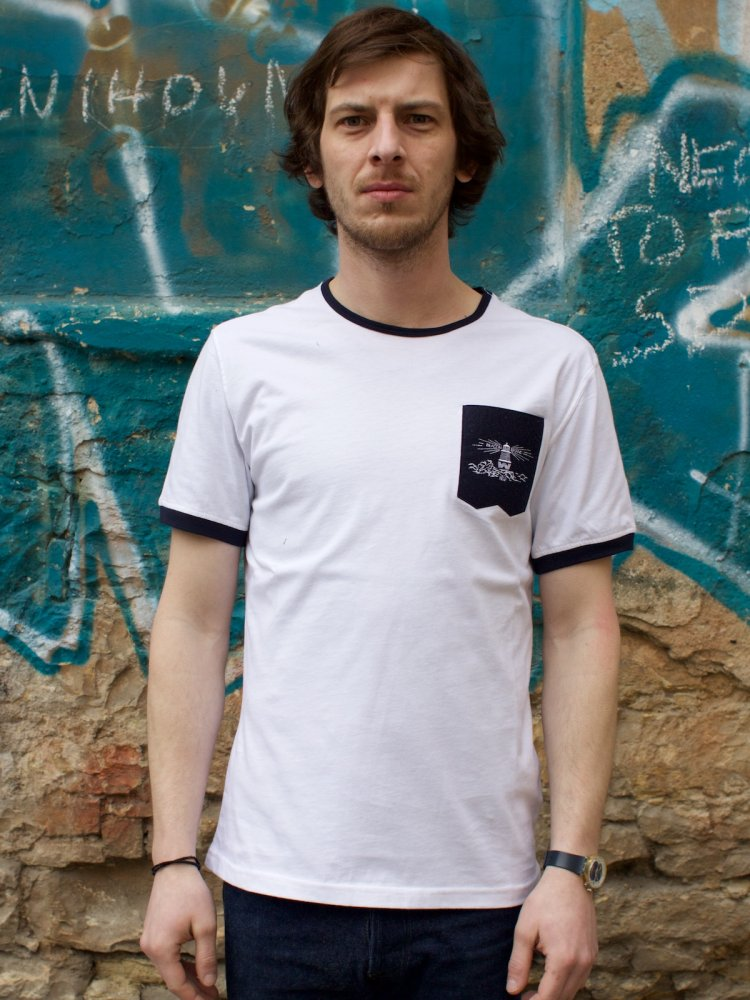 Barbour x White Mountaineering Mountain Tee White
