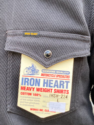 Iron Heart IHSH-234-GRY Kersey Western Shirt - Dark Grey