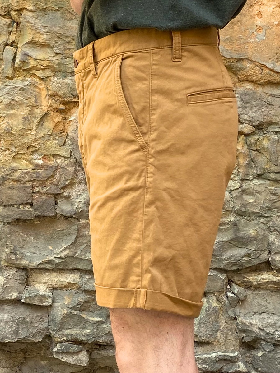 Nudie Jeans Luke Shorts Smooth Comfort Camel